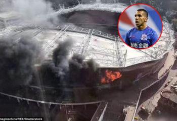 ไฟไหม้สนามบอล เสิ่นหัว ทีม เตเบซ