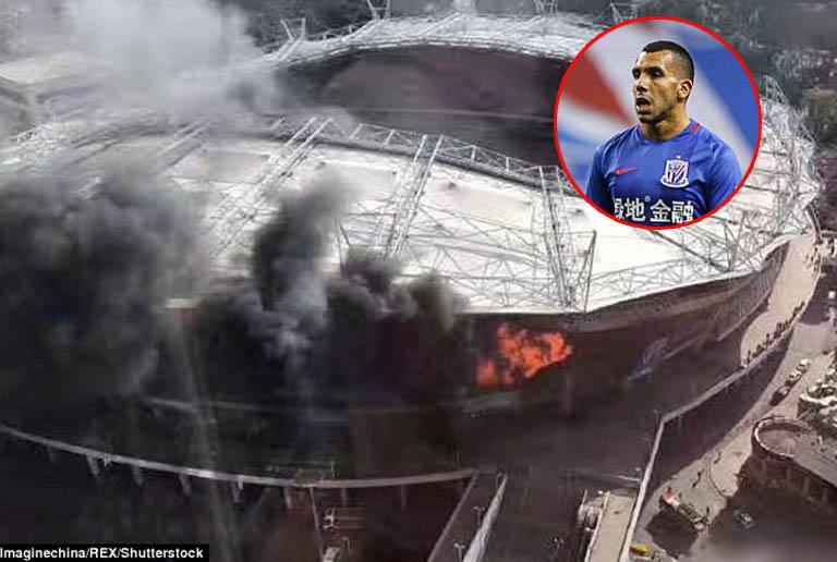 ไฟไหม้สนามบอล