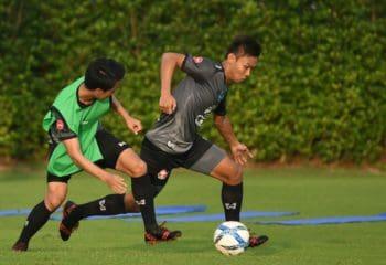 กำลังเสริมมาอีก! เจนรบ-นนท์ เข้าสมทบซ้อมกับ ทีมชาติไทย U23 ที่ เกียรติธานี